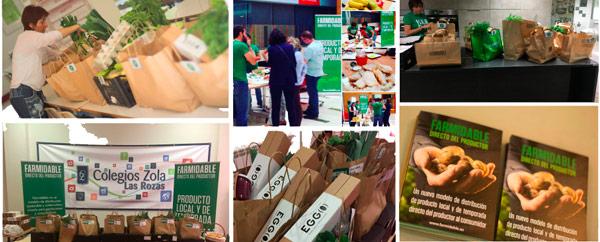 Entregas de compras saludables en las comunidades naturales de consumo de Farmidable - la Bolsa Social